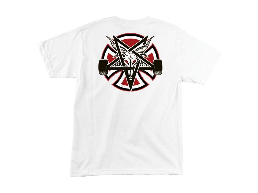 Thrasher tričko THRASHER PENTAGRAM CROSS S/S INDEPENDENT -WHITE