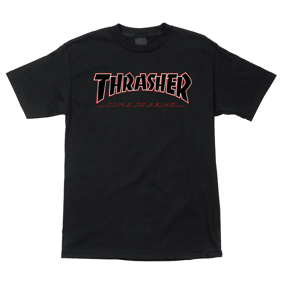 Thrasher tričko THRASHER TTG S/S INDEPENDENT T-SHIRT-BLACK