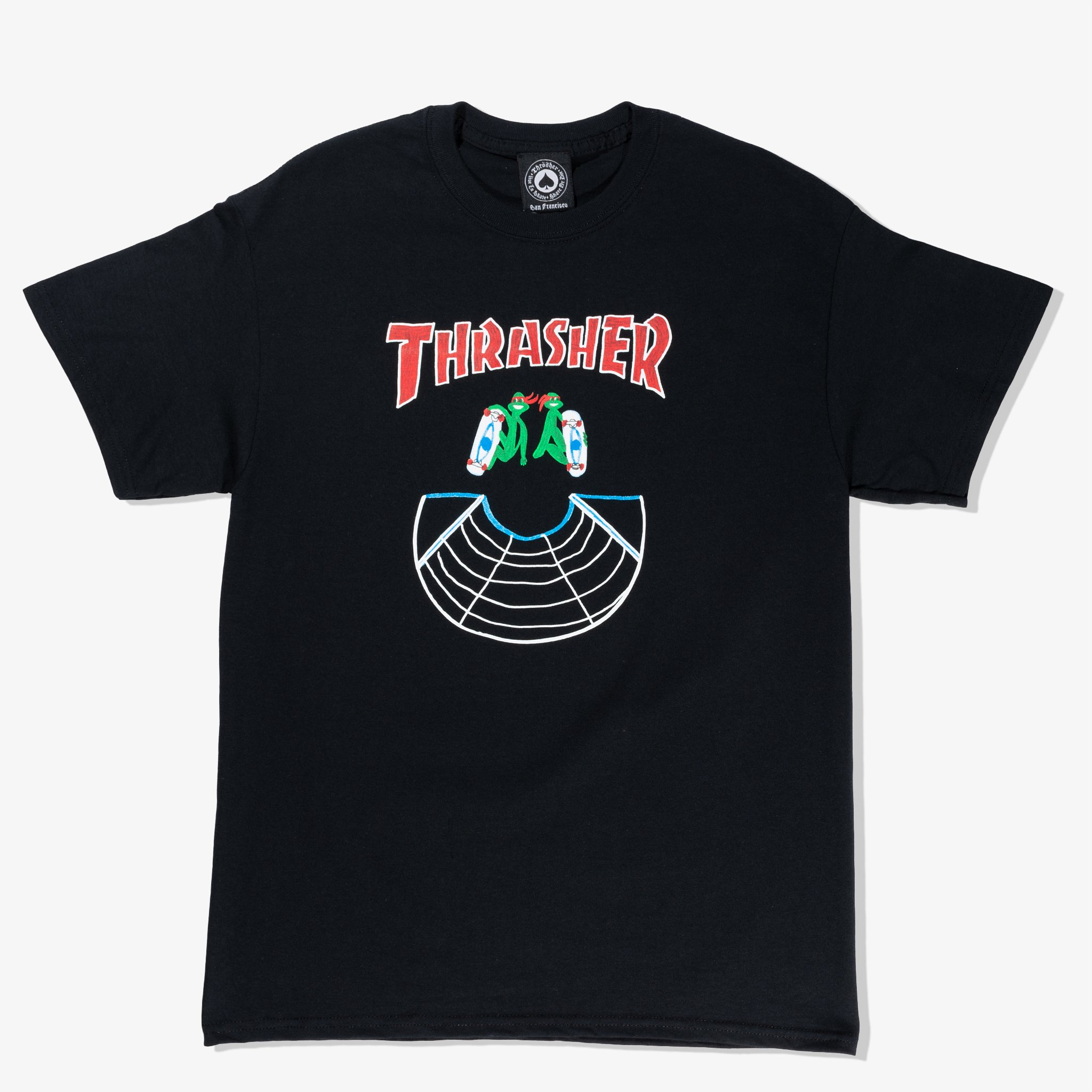 Thrasher tričko DOUBLES S/S- black