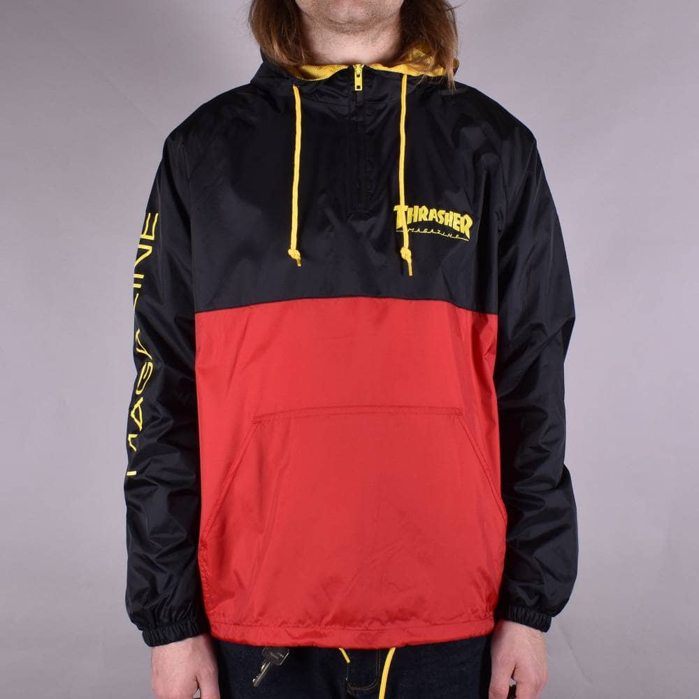 Thrasher bunda MAG LOGO ANORAK- black/red