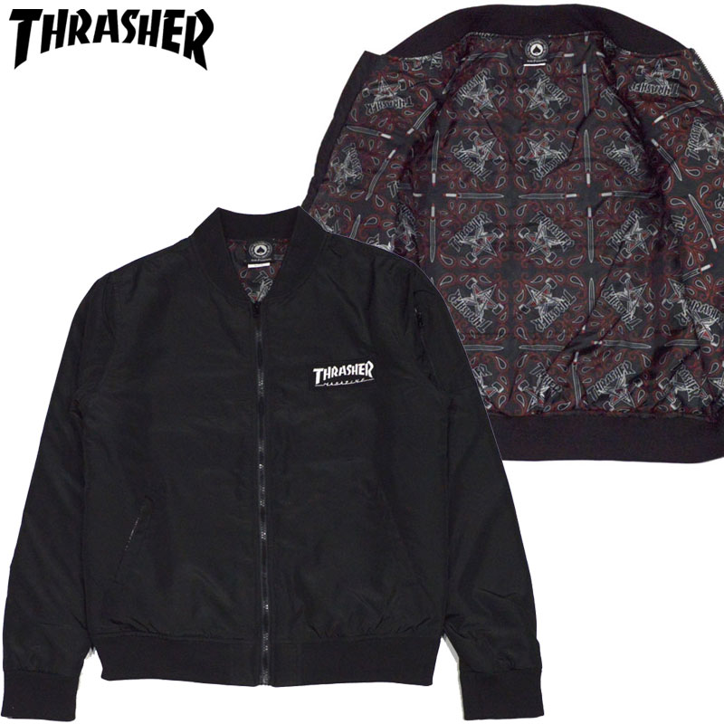 Thrasher bunda BOMBER JACKET- black