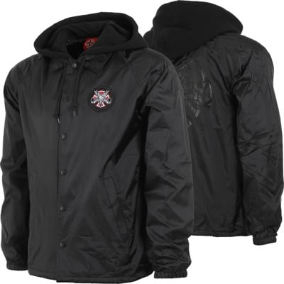 Thrasher bunda THRASHER PENTAGRAM CROSS HOODED WINDBREAKER JACKET- black