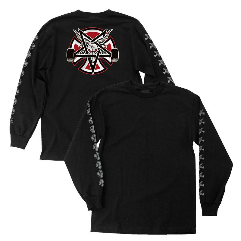 Thrasher tričko THRASHER PENTAGRAM CROSS L/S T-SHIRT- black