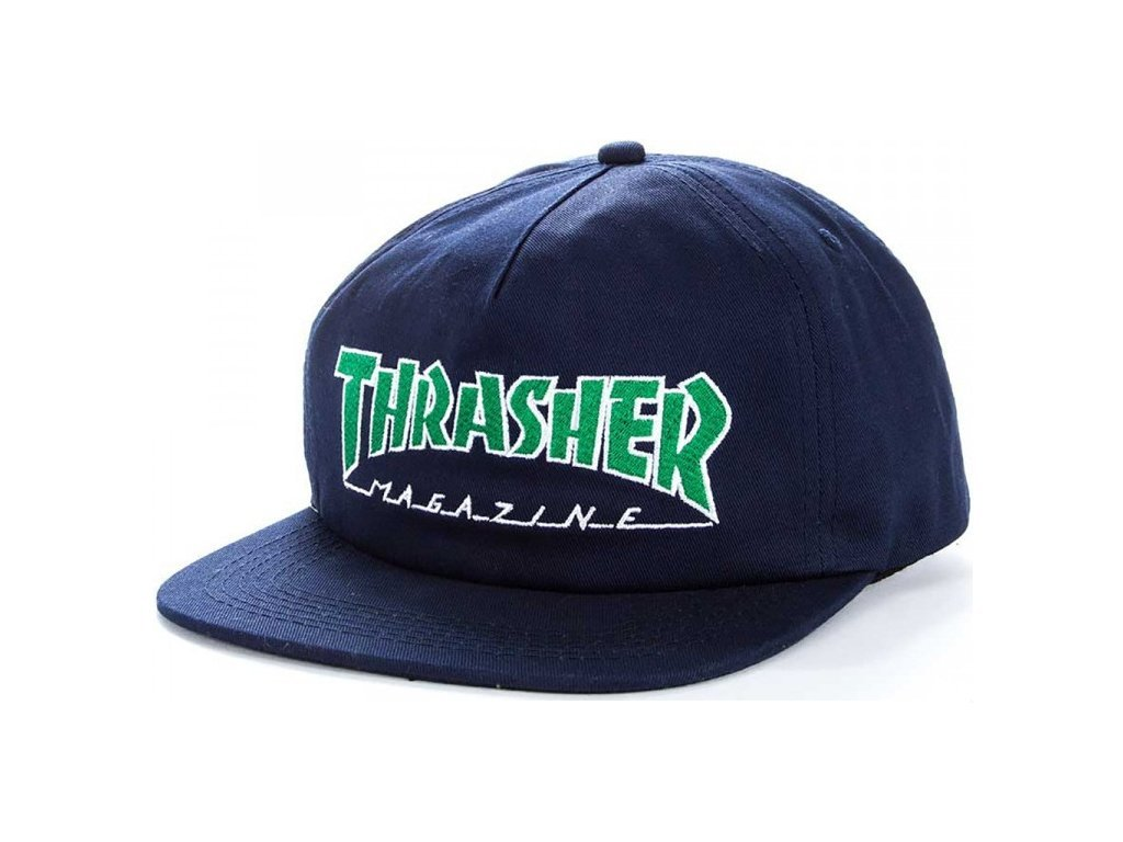 Thrasher šiltovka OUTLINED SNAPBACK NAVY- GREEN