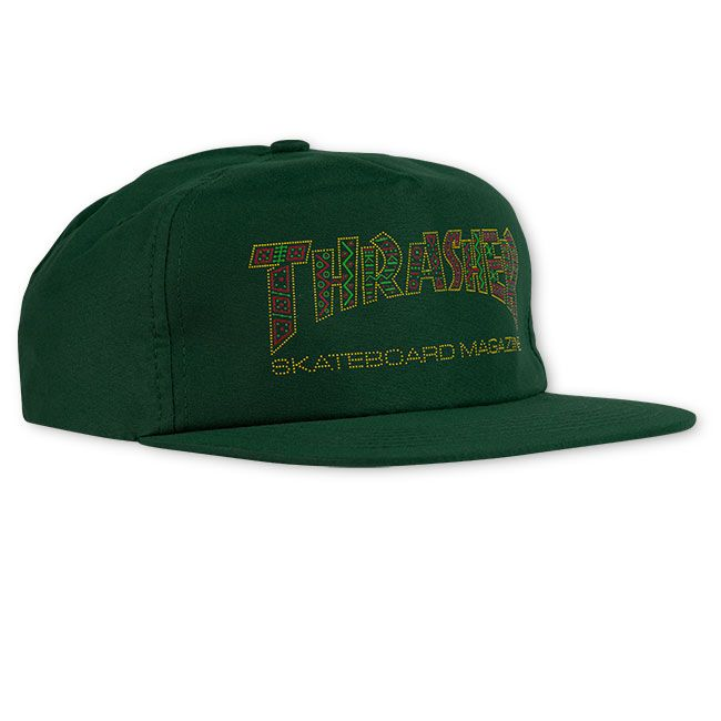 Thrasher DAVIS SNAPBACK- FOREST GREEN