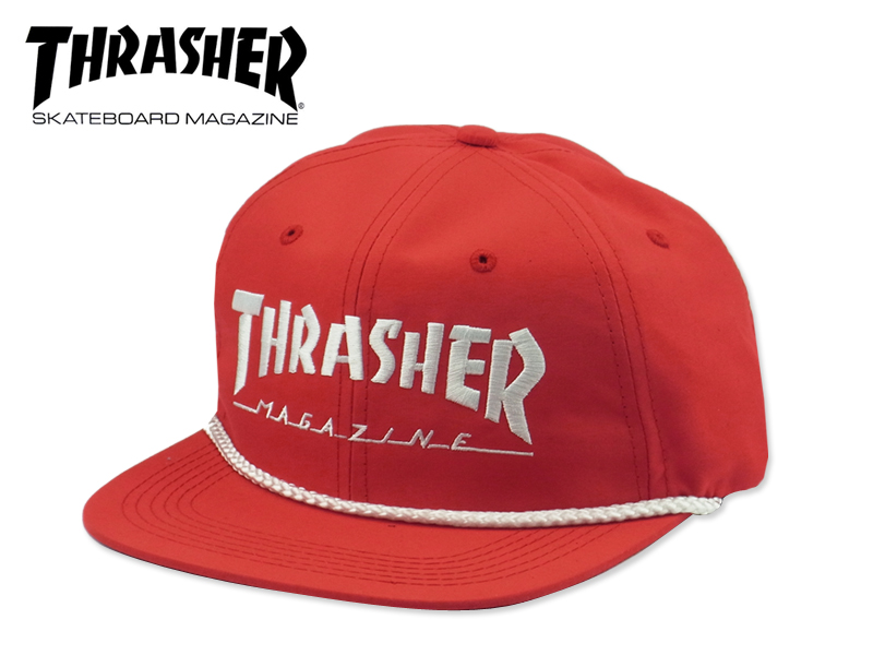 Thrasher šiltovka LOGO ROPE SNAPBACK- red/white