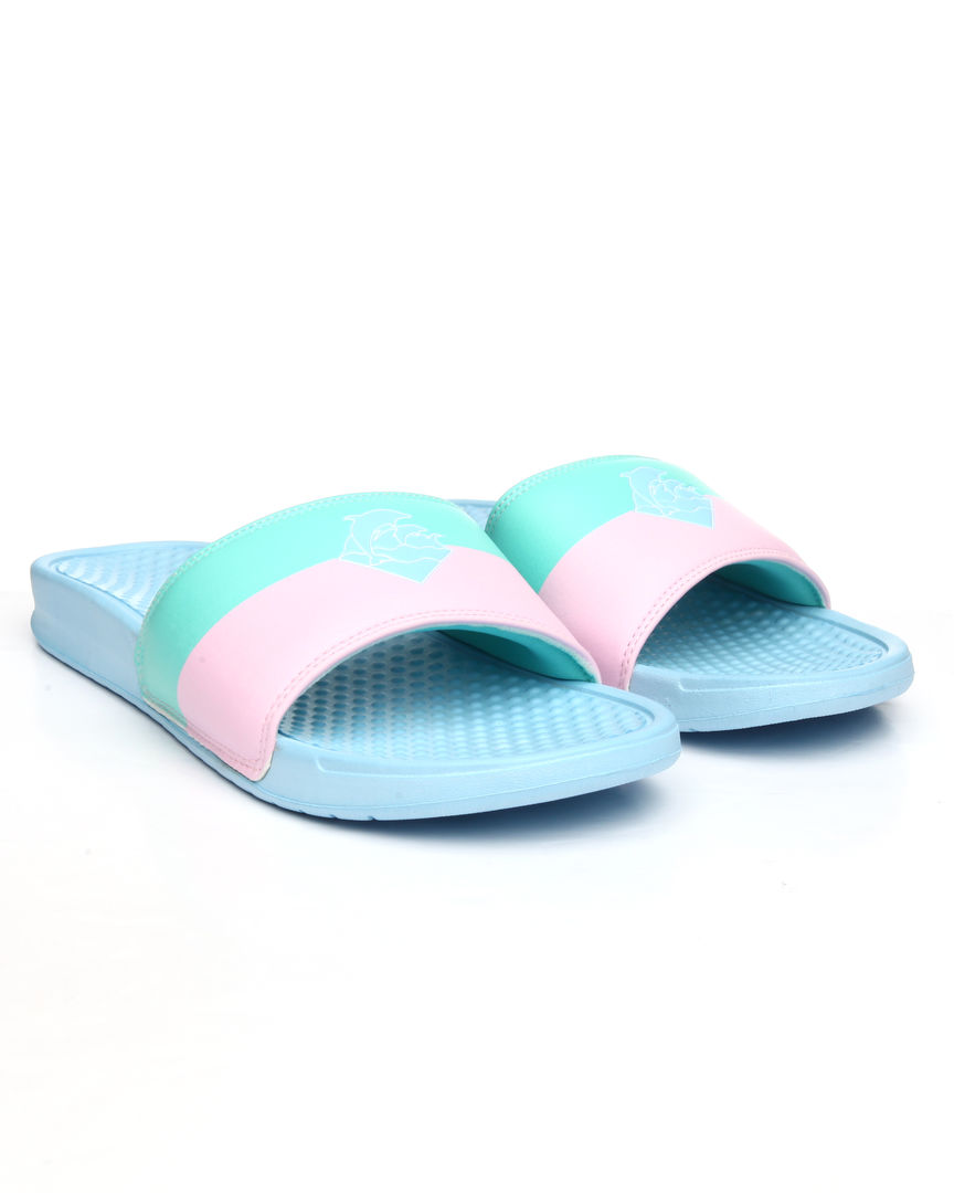 PINK DOLPHIN papuče SPLIT WAVES SLIDES- US 11- multi