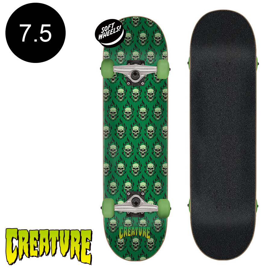 Creature komplet Bonehead repeat sk8 completes 7.5in x 30.6in Creature