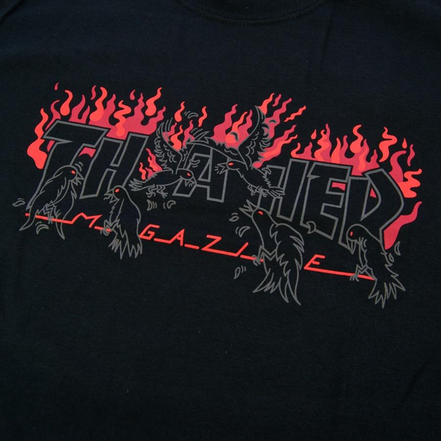 Thrasher tričko CROWS S/S - black