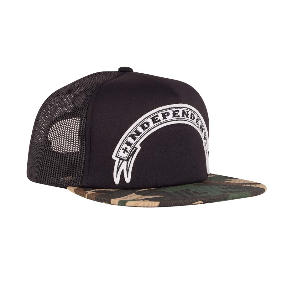 INDEPENDENT šiltovka Steady Mesh high profile Trucker Hat - black/camo