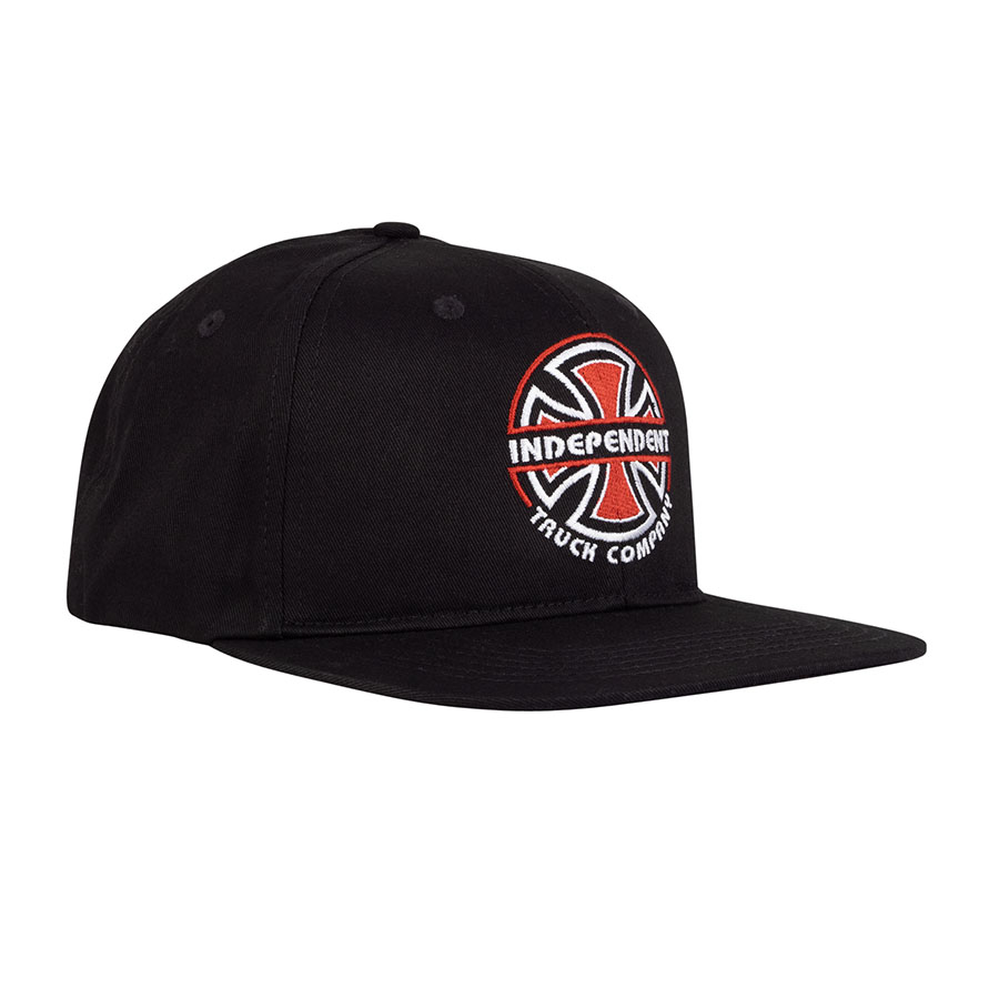 INDEPENDENT šiltovka Linear B/C Snapback Mid profile hat - black