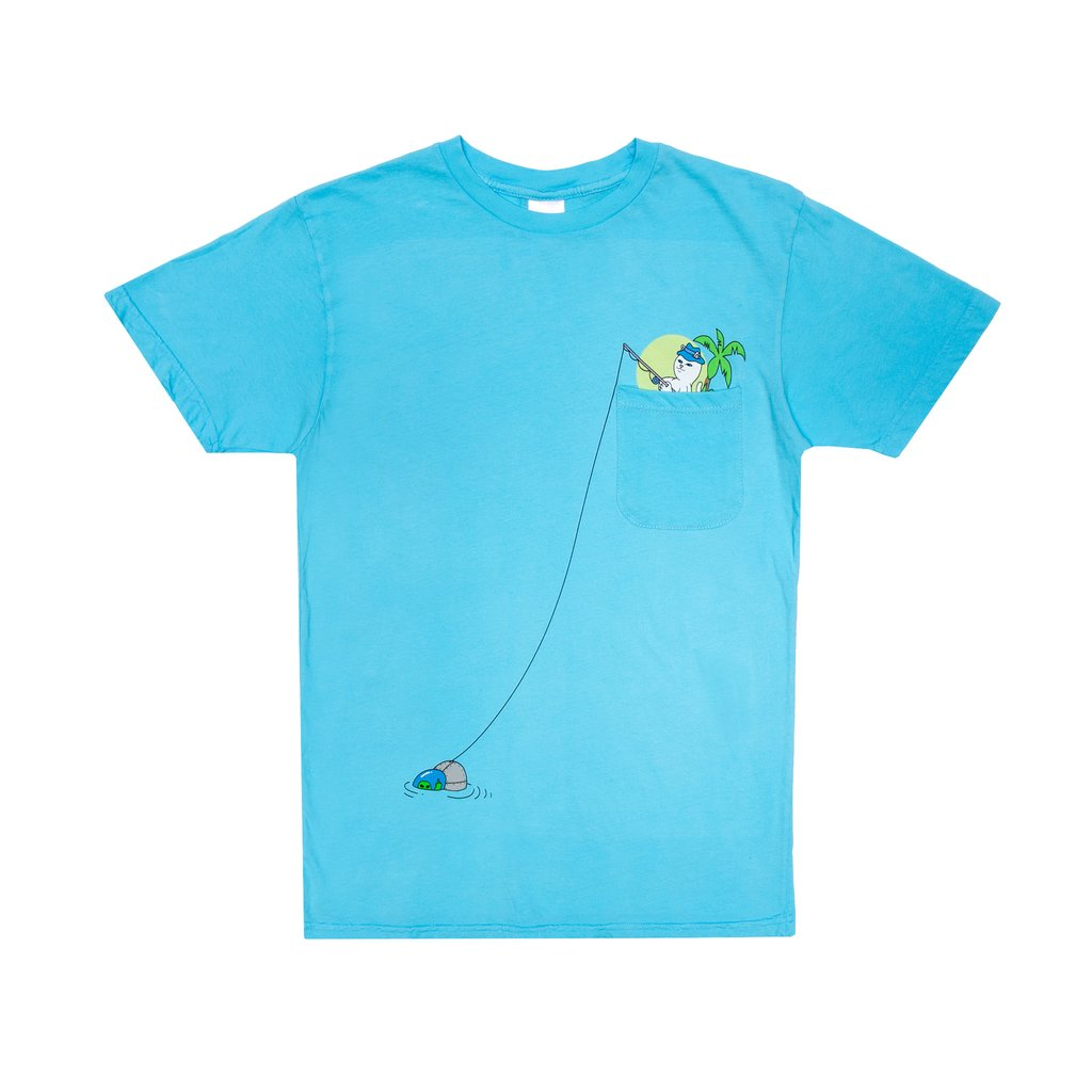 RIPNDIP tričko Foreign Fish Pocket Tee - blue