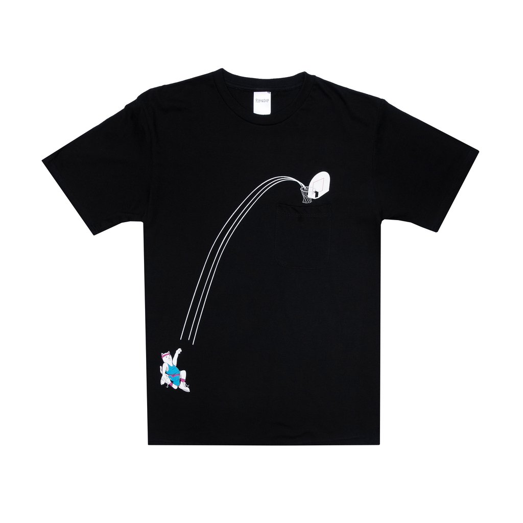RIPNDIP tričko Hoops Pocket Tee - black