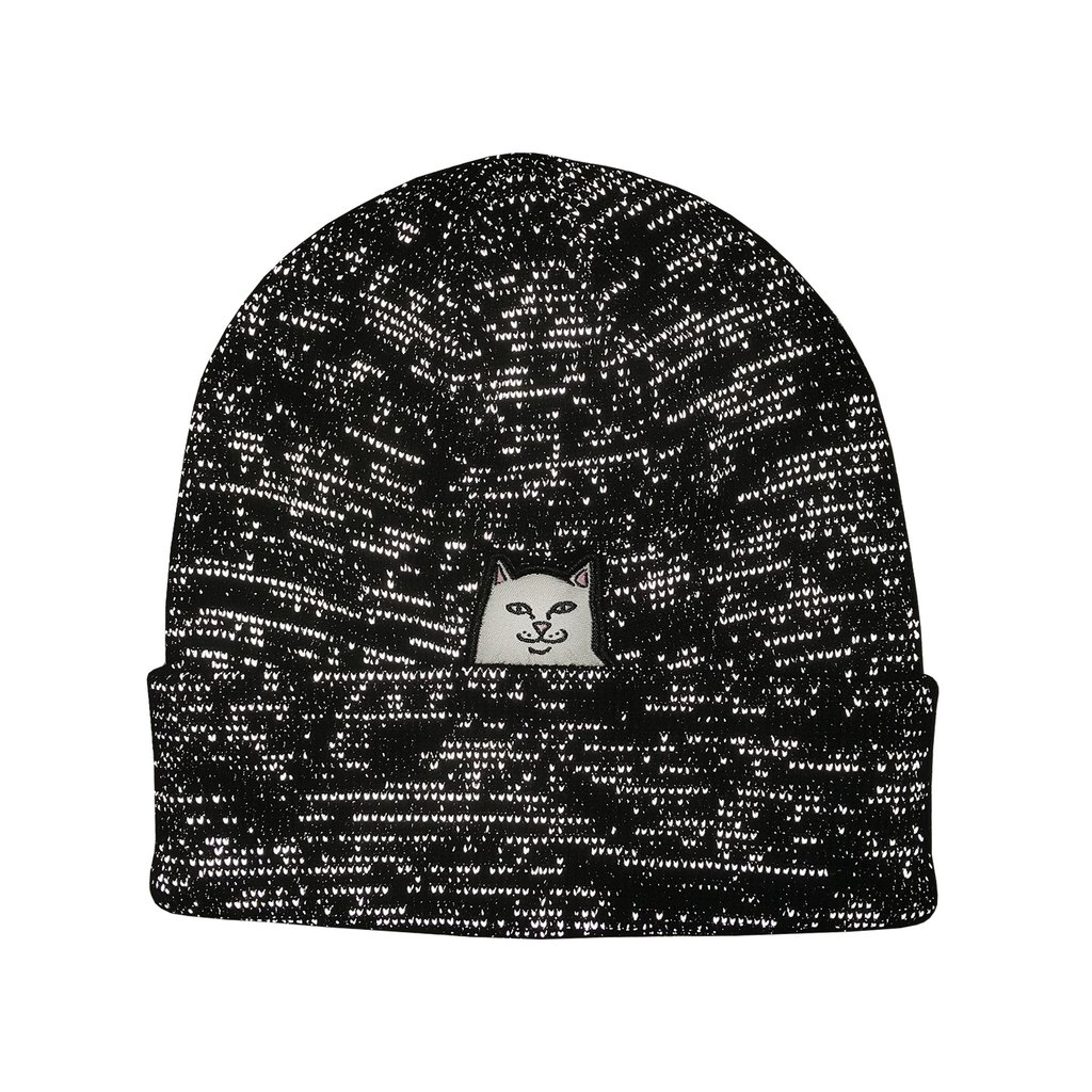 RIPNDIP čiapka Lord Nermal Ribbed Beanie - Black Reflective Yarn