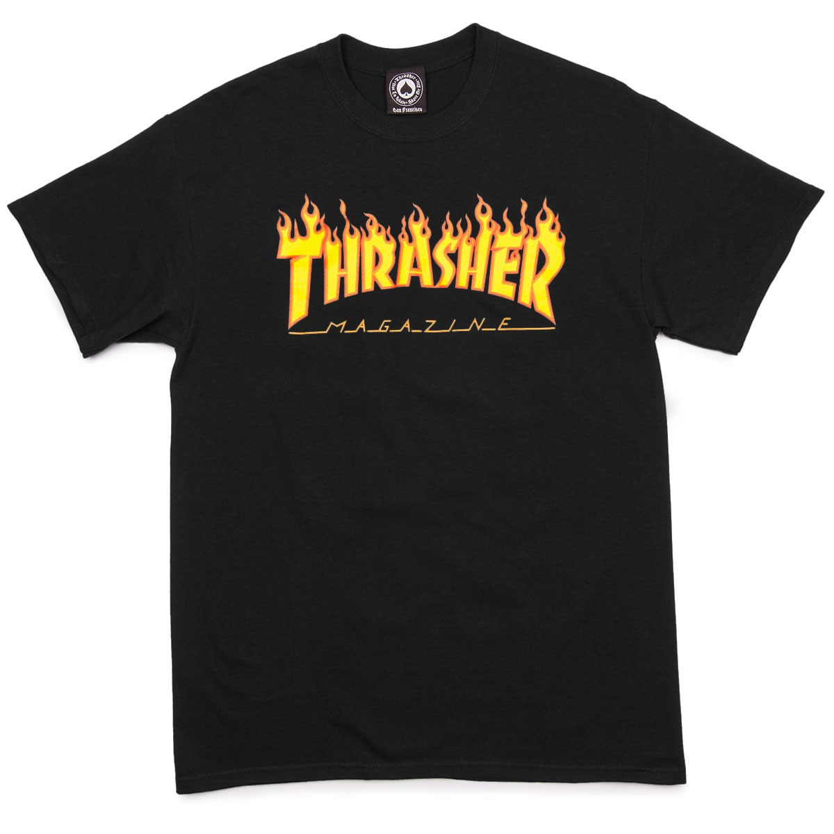 Thrasher tričko Flame Logo Black