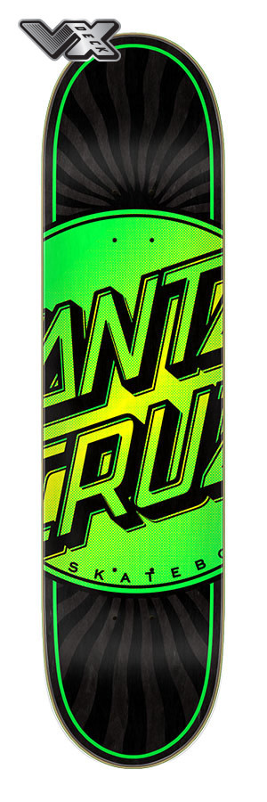 Santa Cruz doska Total dot VX deck 7.75 -  green/ black
