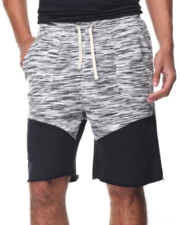 Pink Dolphin MARBLE WEAVE LOUNGE SHORT BLACK