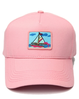 Pink Dolphin PORTRAIT ONE 5-PANEL STRUCTURED SNAPBACK PINK