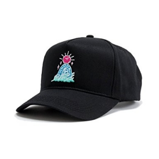 Pink Dolphin TOMBSTONE 5-PANEL STRUCTURED SNAPBACK BLACK